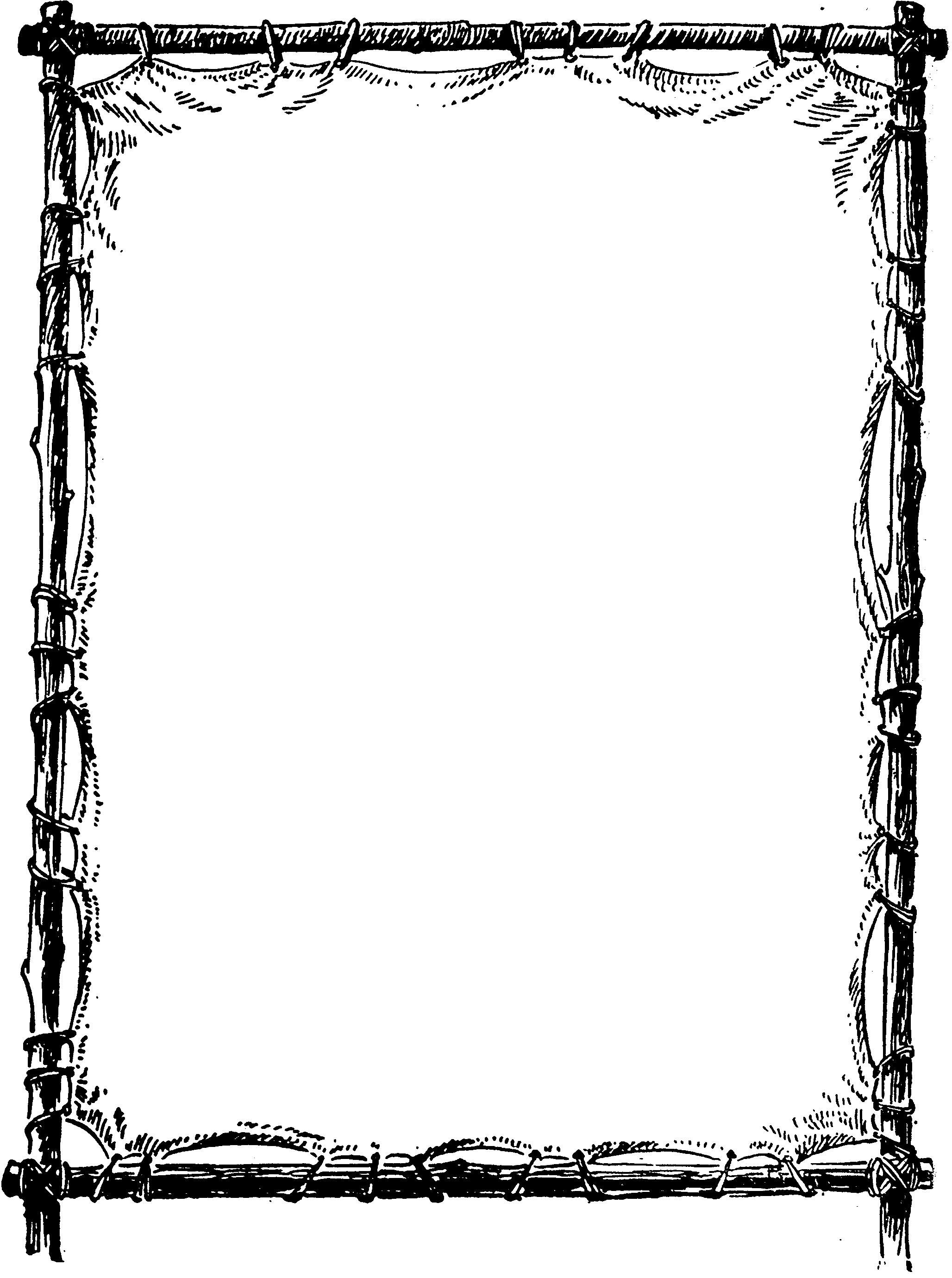 2056x2760 Printable Black And White Flower Border. Use The Border