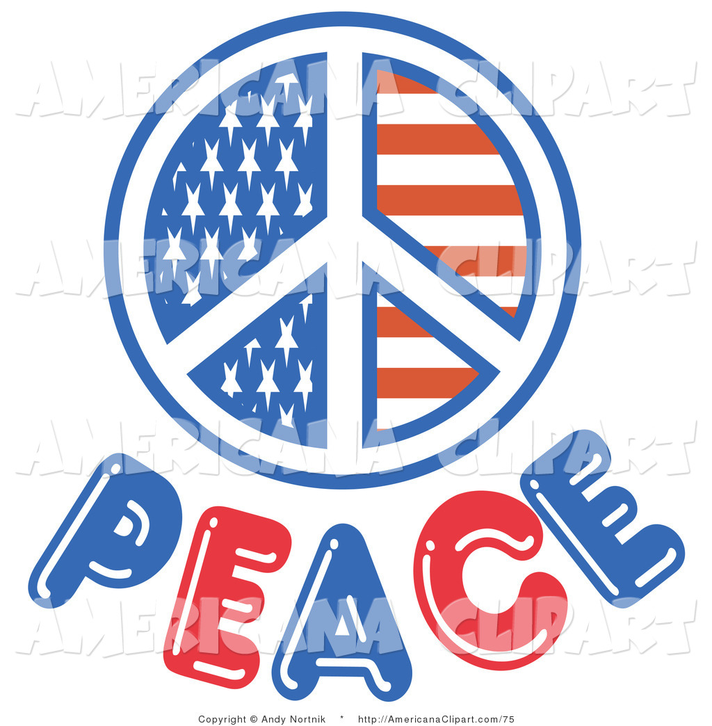 1024x1044 Americana Vector Clip Art Of A Red White And Blue American Peace
