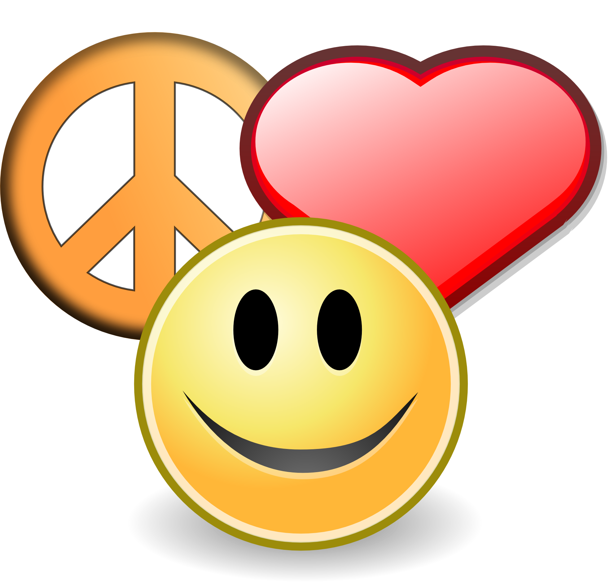 1969x1881 Love And Peace Clipart Image