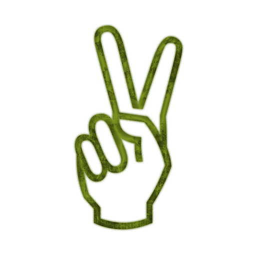 512x512 Hand Peace Sign Clipart