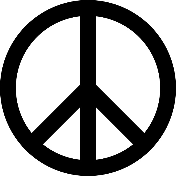 600x600 Peace Sign Clipart