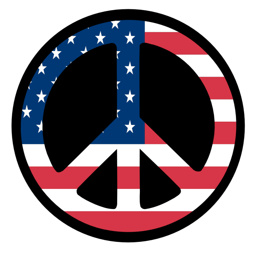 949x949 America Clipart Peace Sign