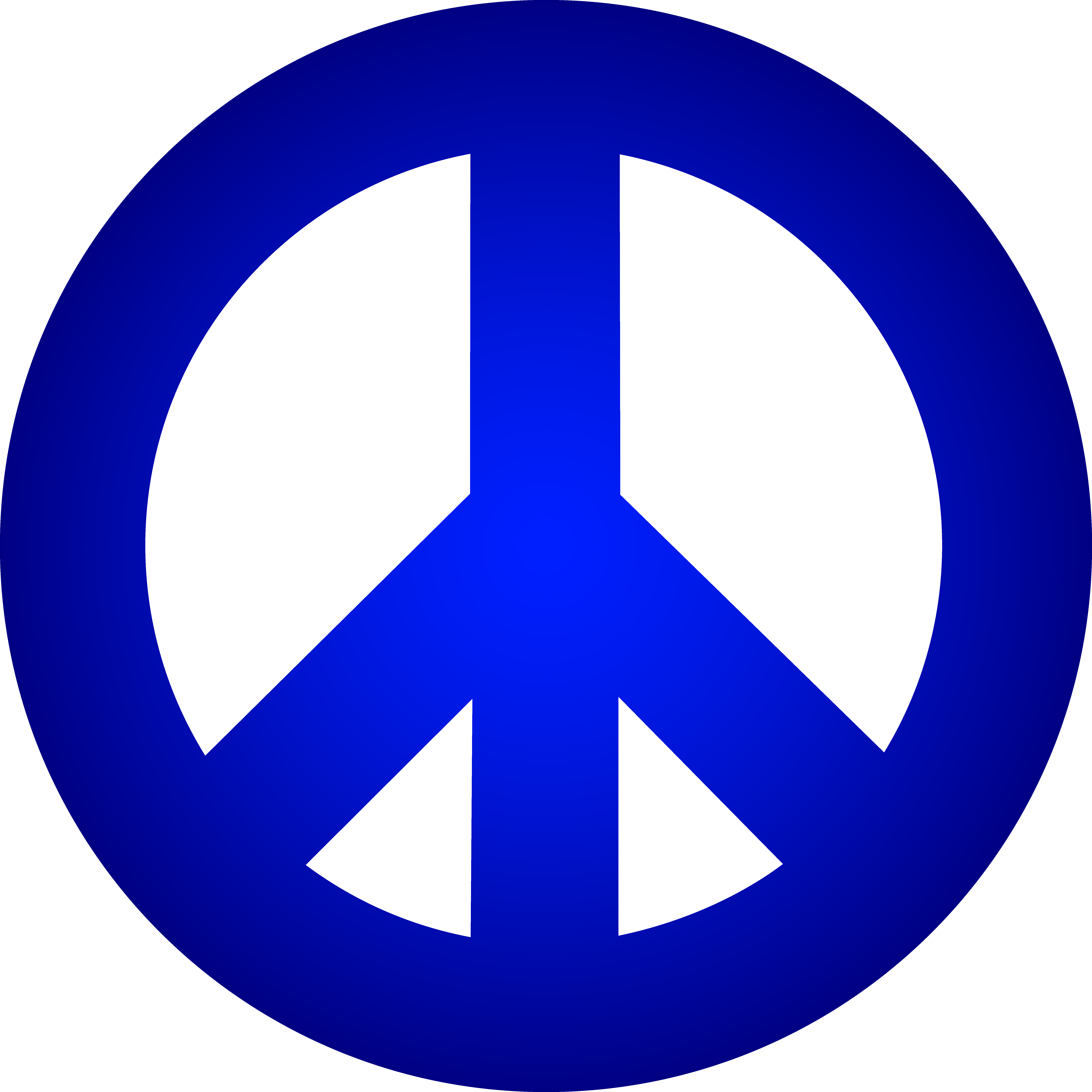 7192x7192 Blue Peace Sign