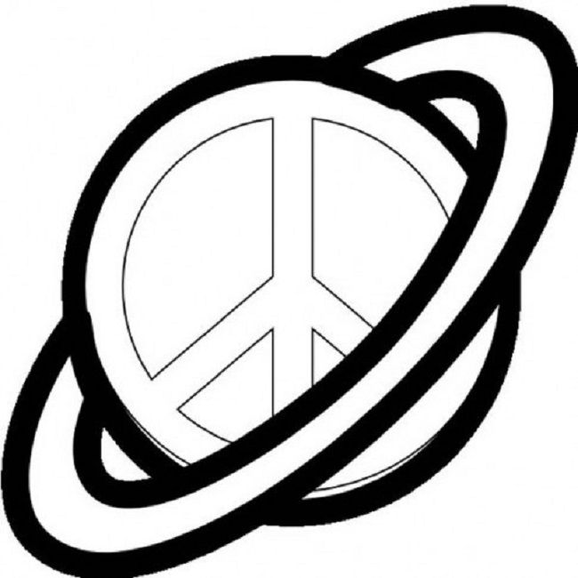 Peace Sign Black And White