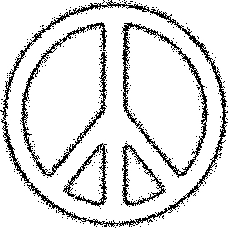 Peace Sign Black And White | Free download best Peace Sign