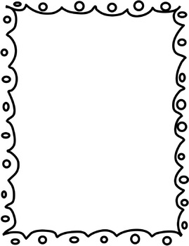 269x350 Printable Heart Doodle Border. Use The Border In Microsoft Word
