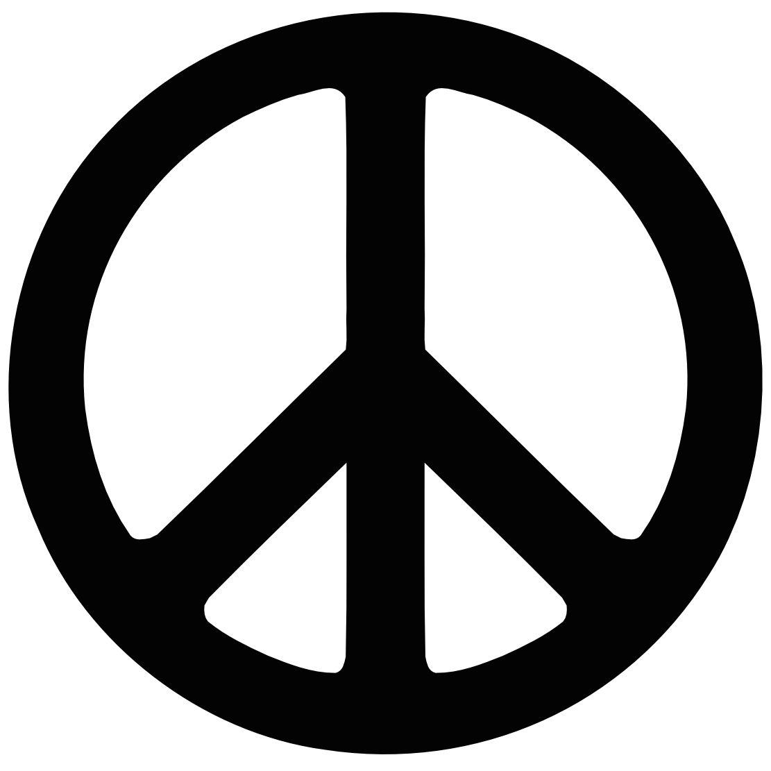 1111x1111 Beautiful Peace Symbol Clip Art With Peace Sign Coloring Pages