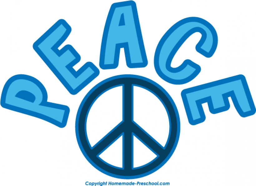 820x597 Free Peace Sign Clipart Image 24223free Download Png Peace Sign