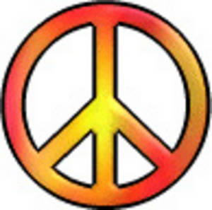 300x297 Free Peace Sign Clip Art Clipart Image