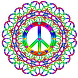 250x250 Free Peace Sign Clipart