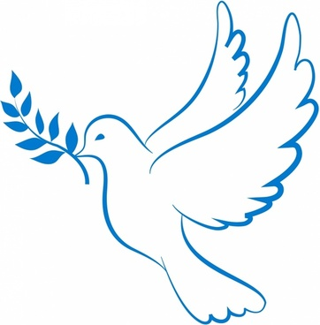 362x368 Peace Sign Clipart Dove