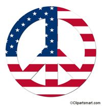 200x208 America Clipart Peace Sign
