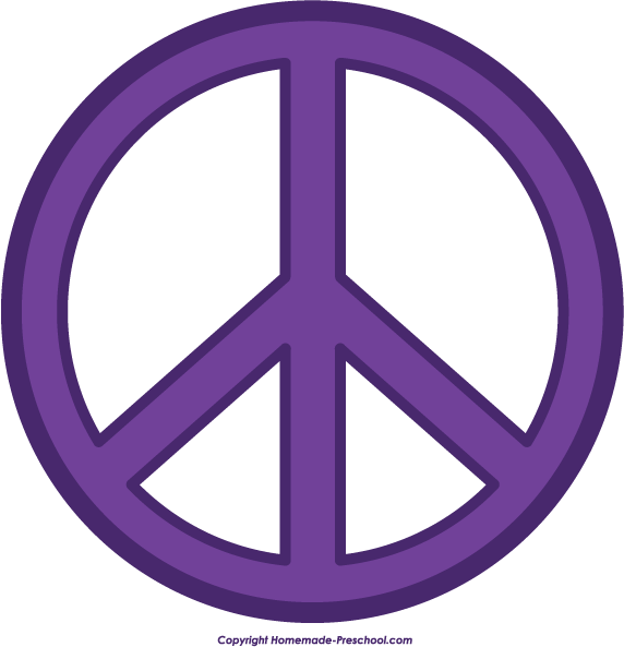 572x593 Free Peace Sign Clipart