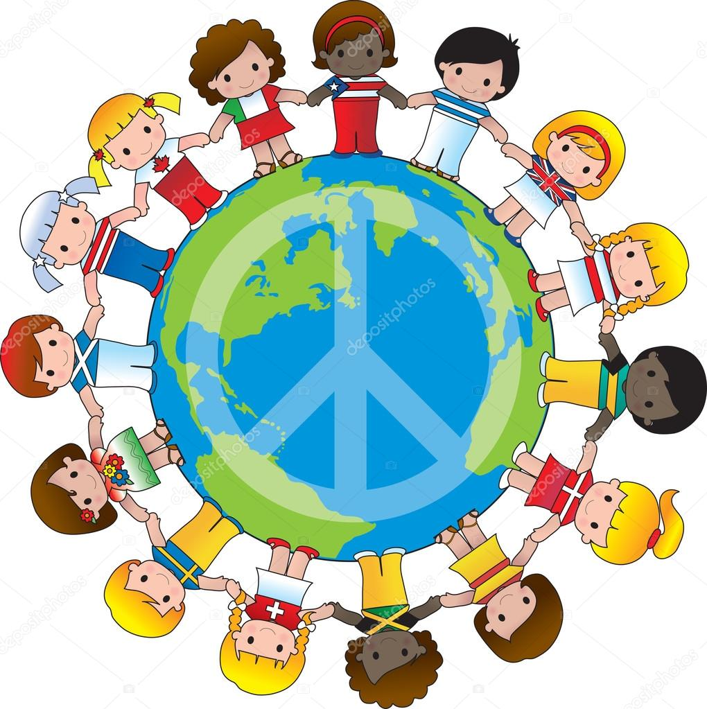 1020x1023 Global Children Peace Sign Stock Vector Mkoudis