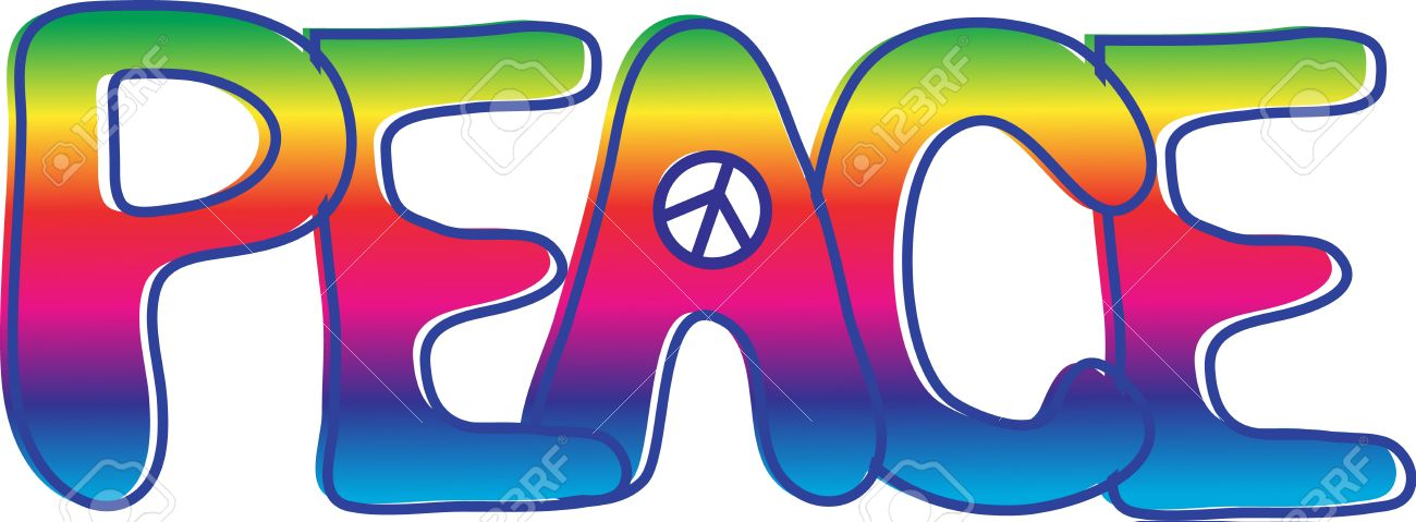 1300x479 Hippie Clipart Peace Sign