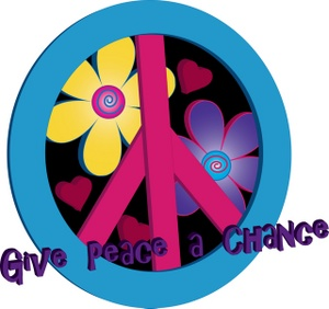 300x282 Peace Sign Clipart Image