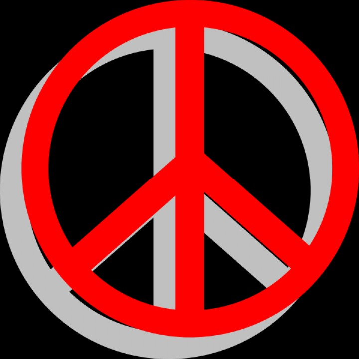 720x720 Peace Sign Hd Clipart