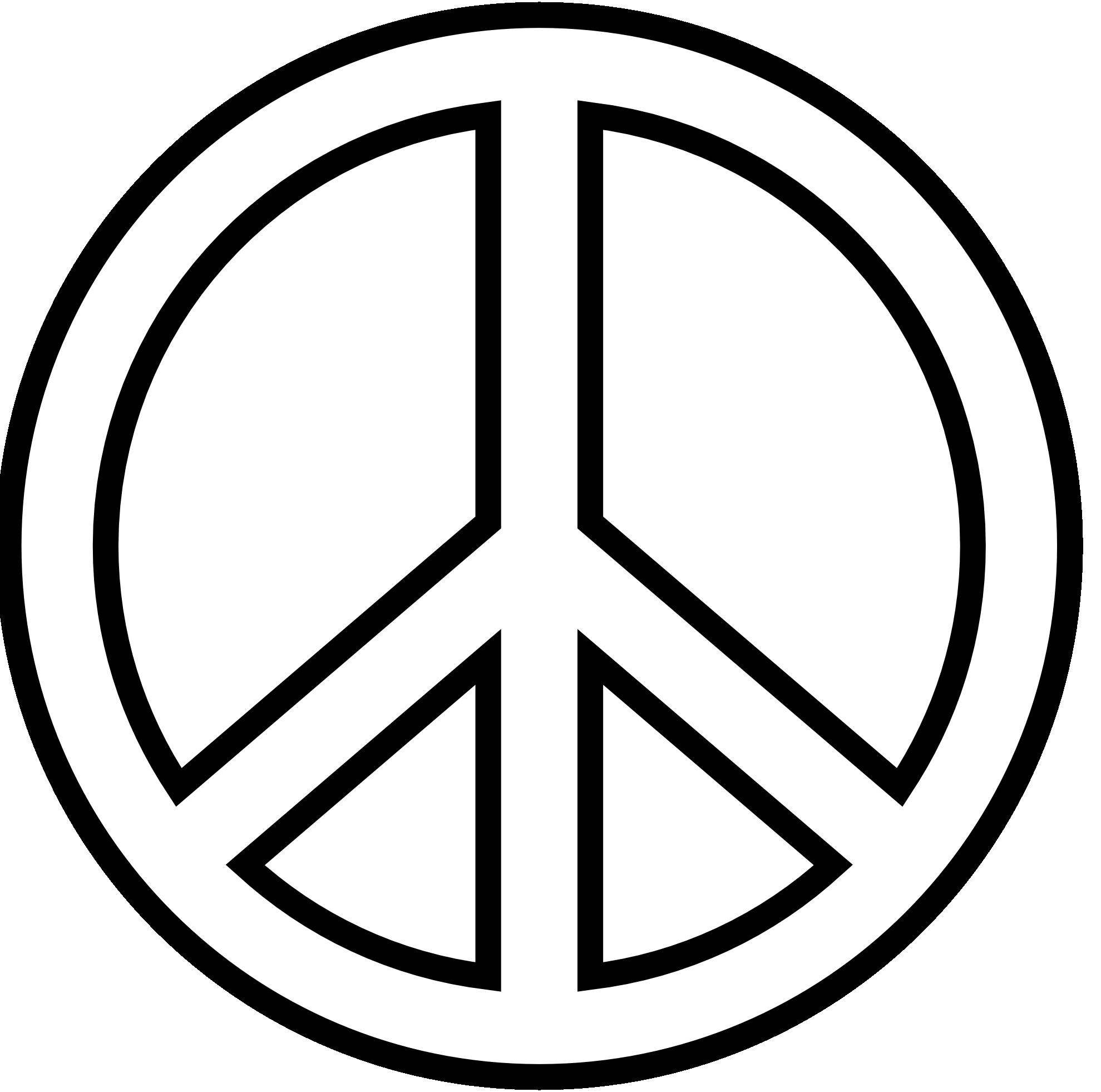 1979x1962 Peace Sign Clipart Peace Symbol