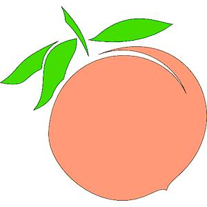 300x300 Peach Clip Art Clipart Photo 2