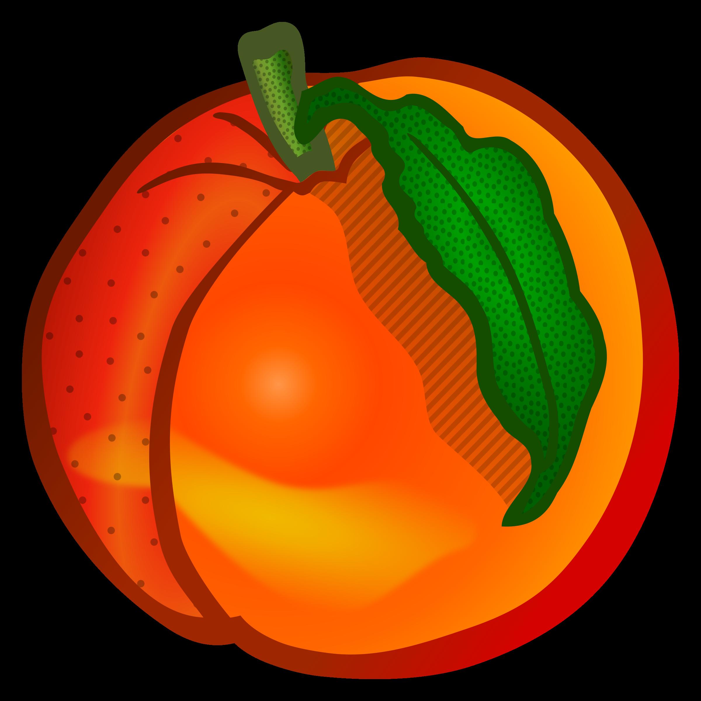 2400x2400 Peach Clipart Image