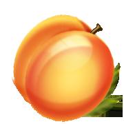 180x180 Peach Clipart Transparent