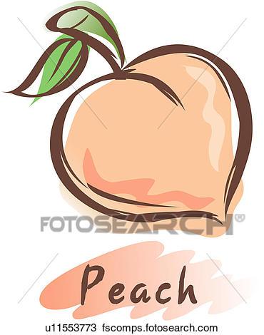 370x470 Clip Art Of Peach U16603178