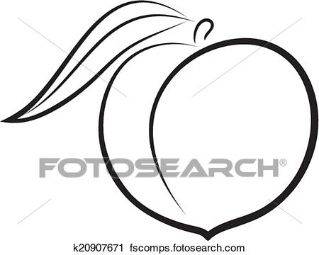 450x360 Clipart Of Sketch Of Peach K20907671