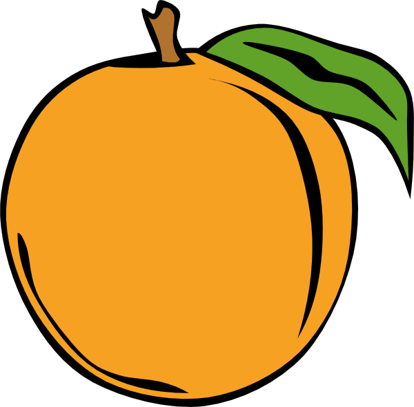 600x590 Peach Clip Art