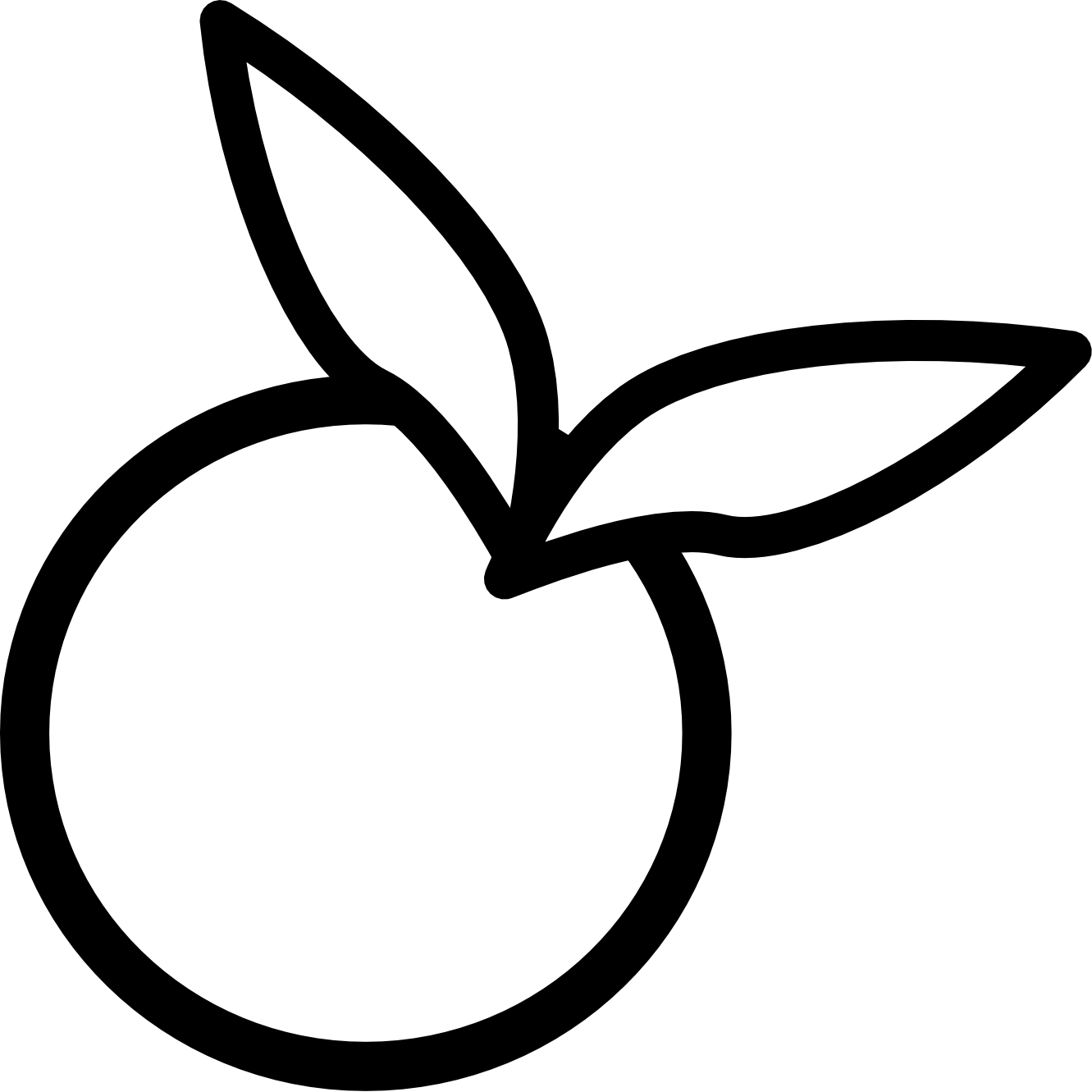 1331x1331 Peach Clipart Black And White Free Images