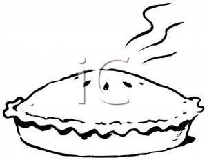 300x232 Black And White Pies Clipart