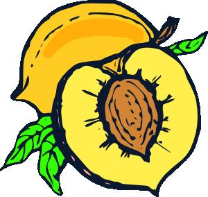 300x284 Peach Clip Art