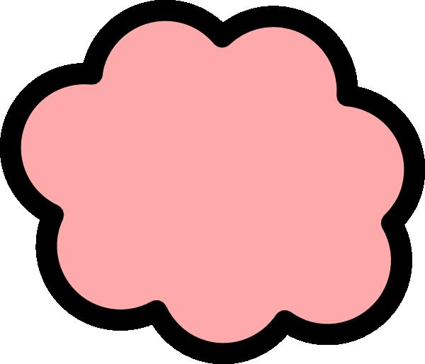 600x514 Peach Cloud Clip Art