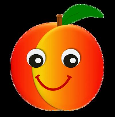 400x405 Peach Clipart
