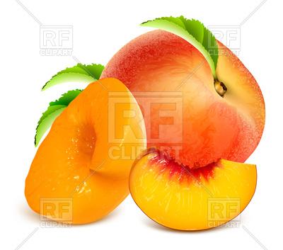 400x353 Ripe Peaches Royalty Free Vector Clip Art Image