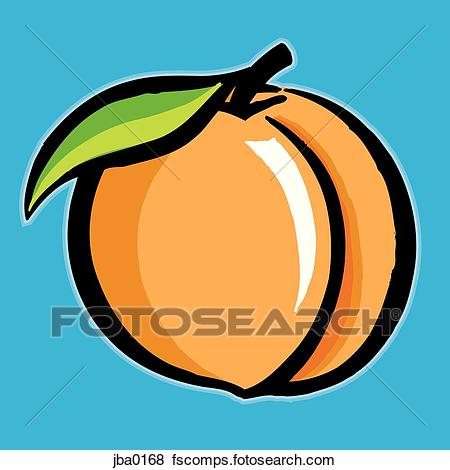 450x470 Stock Illustration Of Peach Dsu0006
