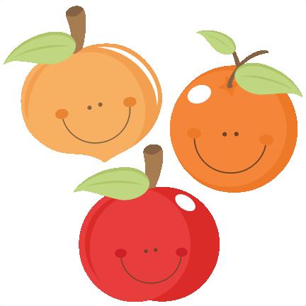 432x432 Cute Fruit Peach Apple Orange Scrapbook Cuts Svg Cutting Files