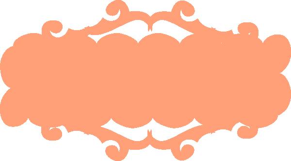 600x331 Peach Banner Clip Art