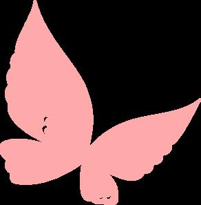 292x297 Peach Butterfly Clip Art