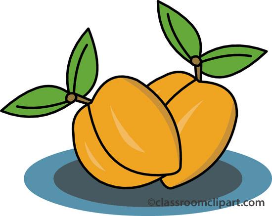 550x437 Peach Clipart