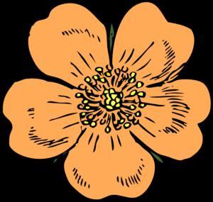 300x285 Peach Flower Clip Art