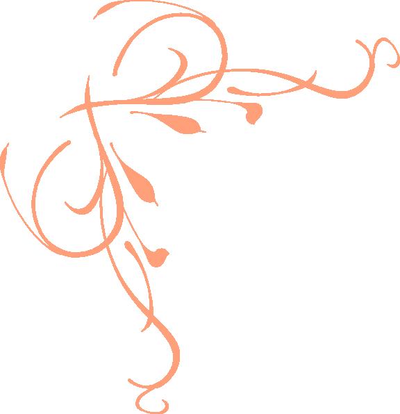576x596 Peach Swirl Connect Clip Art