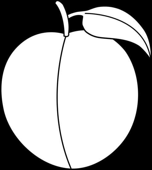 493x550 Peach Clipart Black And White