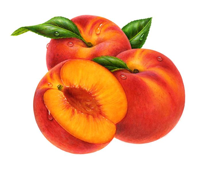 700x589 Peach Clipart Fruit