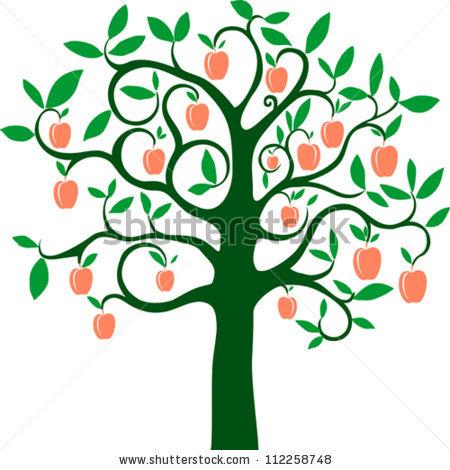 450x470 Cherry Tree Clipart Peach Tree