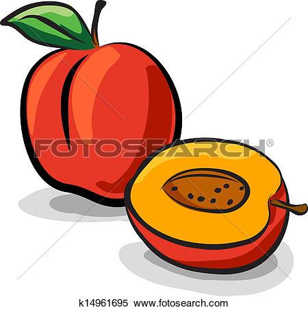 450x452 Peach Clipart Sliced
