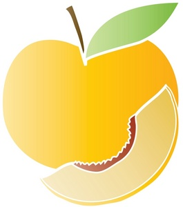 265x300 Fruit Clipart Image Peach Design Image