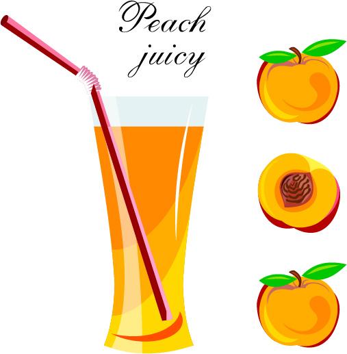 507x517 Fresh Peach Juice Vector Design Free Vector In Encapsulated