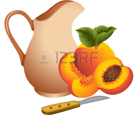 450x370 Peach Cut In Half Royalty Free Cliparts, Vectors, And Stock