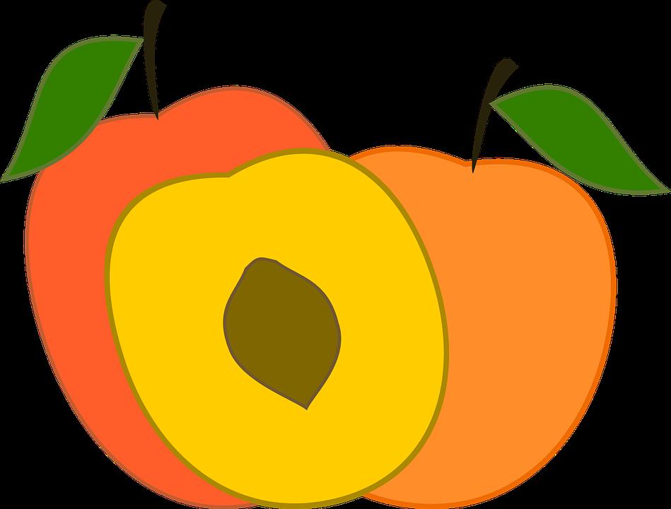 949x720 Peach Clipart Friuts