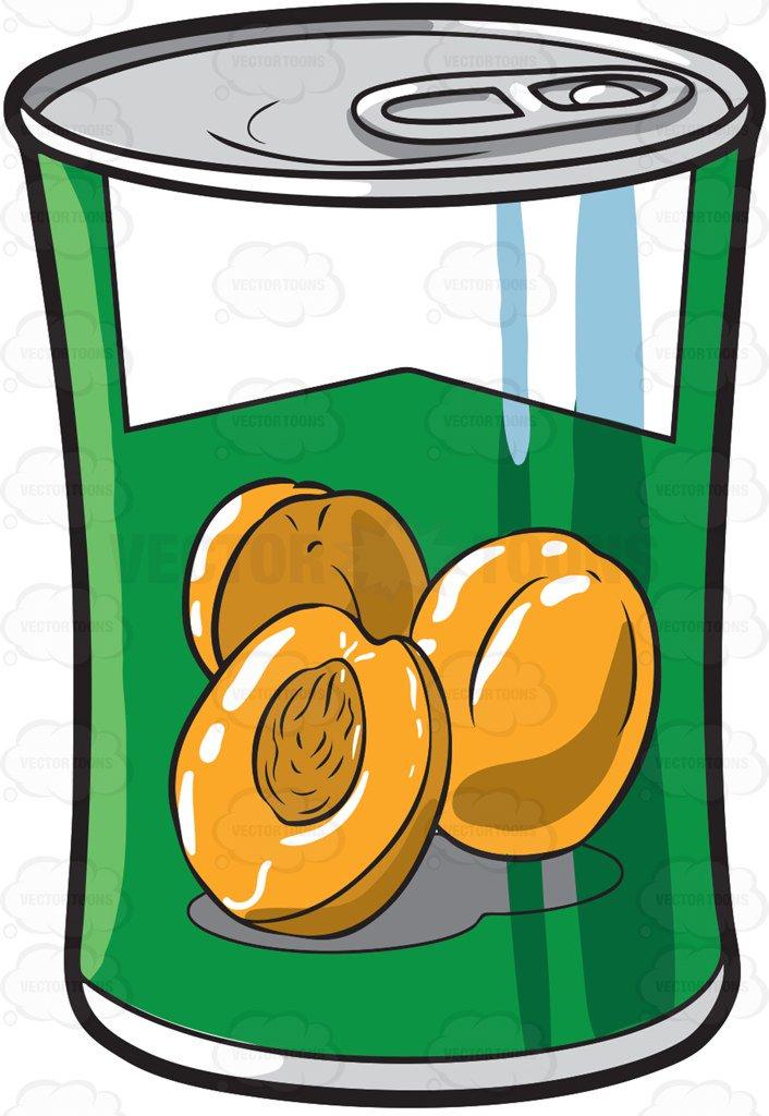 706x1024 A Can Of Peaches Cartoon Clipart